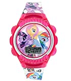 Disney Jr. My Little Pony Fashion Accessory 7' LCD Watch! Featuring Rainbow Dash, Twilight Sparkle and Fluttershy! Batteries Included!