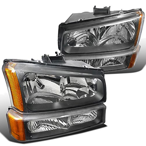 Spec-D Tuning 2LBLH-SIV03JM-RS Chevrolet Silverado Black Crystal Headlights, bumper lights (2005 Headlights compare prices)
