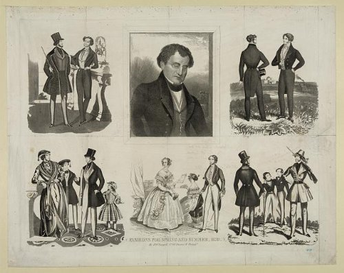 Photo Reprint Fashions for spring and summer, 1839