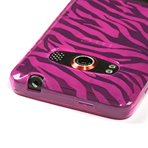 Hot Pink Zebra Skin Candy Skin Cover For HTC EVO 4G