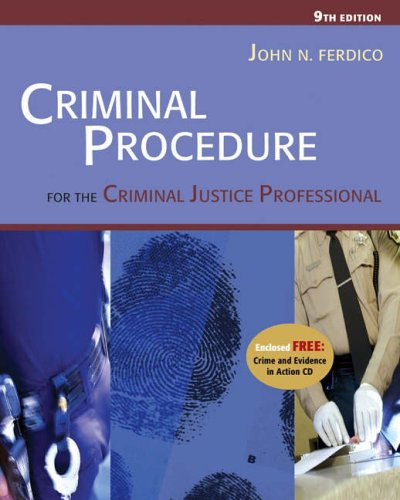 LAW OF EVIDENCE FOR CRIMINAL JUSTICE PROFESSIONALS