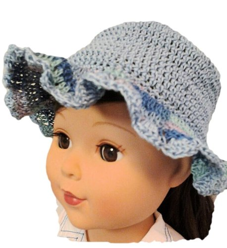 Blue Summer Doll Hat