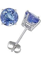 Vir Jewels 14K Gold Tanzanite Stud Earrings (1/2 CT)