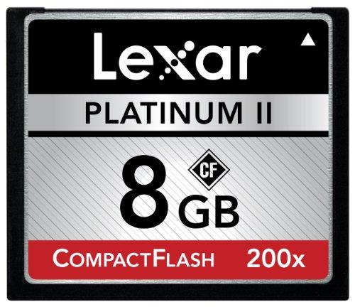 Lexar Platinum II 8GB 200x Compact Flash Memory Card LCF8GBBSBNA200 (Lexar Platinum Ii 8 Gb Memory compare prices)