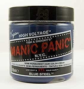 Manic Panic Classic Cream Semi-Permanent Vegan Hair Color - BLUE STEEL at amazon