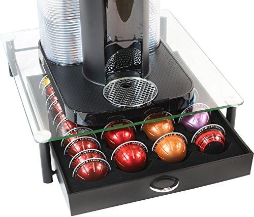 네스프레소 버츄오 캡슐 홀더 보관함 (데코 브라더스, 40캡슐, 아마존 구매평 4.8 ★★★★★) Deco Brothers Crystal Tempered Glass Nespresso Vertuoline Storage Drawer Holder