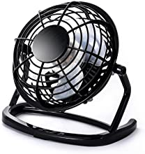 CSL - Mini Ventilateur USB | Mini ventilateur de bureau / Fan | ordinateur / ordinateur portable | en noir