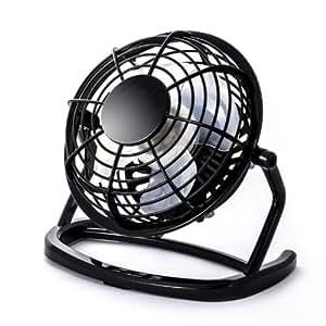CSL - Mini Ventilateur USB | Mini ventilateur de bureau / Fan | ordinateur / ordinateur portable | en noir