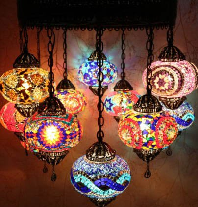 Multicolor hanging lamp