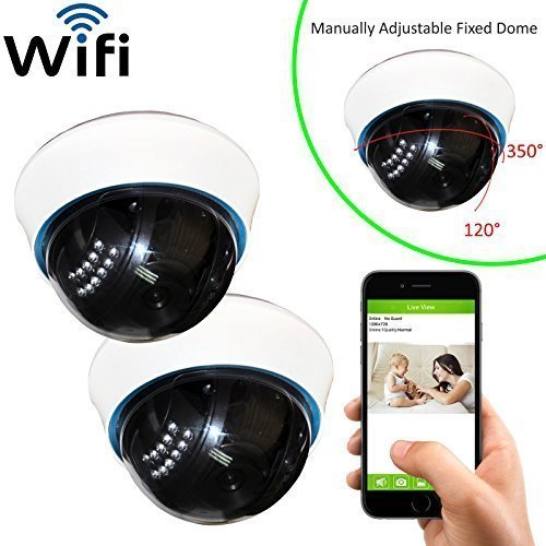 Coolcam 2PK WiFi IP Network Camera, Wireless, Video Monitoring, Surveillance, Security Camera, Plug/Play, Night Vision IR Camera