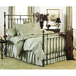 hyde park bed by charles p rogers king bed high footboard home kitchen. Black Bedroom Furniture Sets. Home Design Ideas