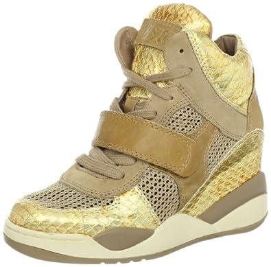 Ash Women's Funky Fashion Sneaker,Ant Gold/Chamois,41 EU/11 M US