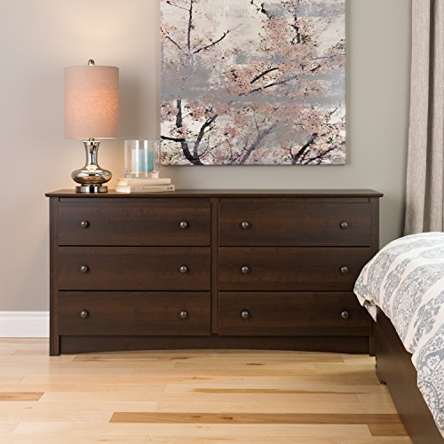 Prepac EDC-6330-A Fremont 6 Drawer Dresser, Espresso, Size (Real Wood Dresser compare prices)