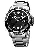 Handcuffs SKONE B 7147 Luxury Brand Military Men Sports Wrist Watch Full Steel Auto Date