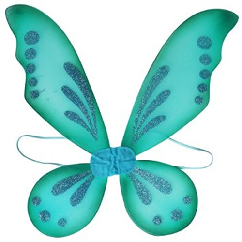 Turquoise Pixie Fairy Wings Tinkerbell Princess Tutu Dress up Costume