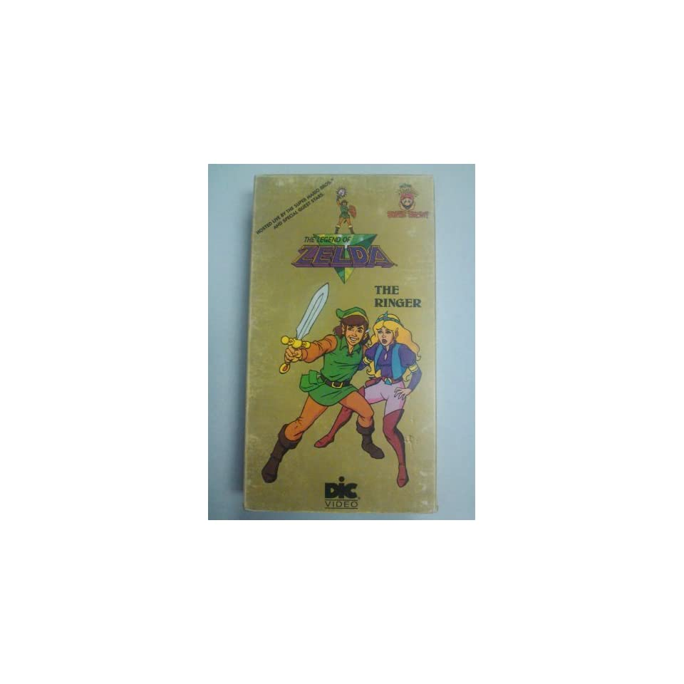1989 Kids Klassic, Inc. Nintendo Of America, Inc. Nintendo Dic Video THE LEGEND OF ZELDA THE RINGER CARTOON VHS VIDEO TAPE NO. K6460 (The Super Mario Bros. Super Show, Hosted Live by the Super Mario Bros. and Special Guest Stars) (1989 Version, 30 Minutes,