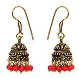 Silvantra Glass Brass Earrings (MCJE028_BR)