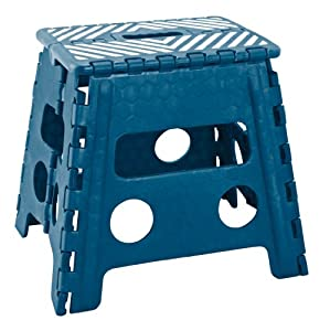 Amazon Com Simplify 13 Inch Folding Step Stool Sapphire