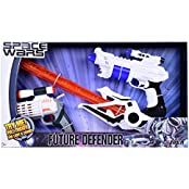 SPACE WARS SERIES: PLANET OF TOYS SPACE WEAPON SET COMBO 1 GUN (24CMS), 1GUN (17 CMS), 1 SWORD (51 CMS) ORANGE...