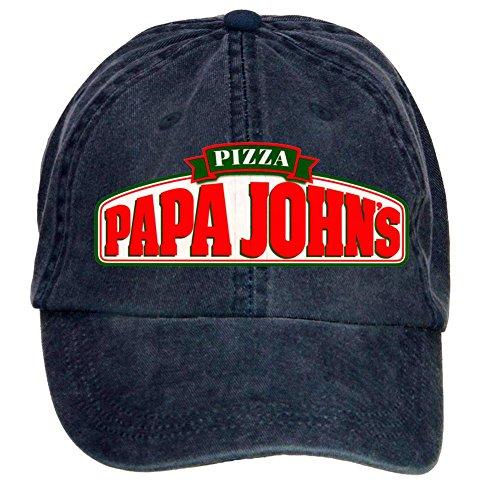 nusajj-papa-johns-pizza-logo-adult-unstructured-100-cotton-hats-design-navy-one-size
