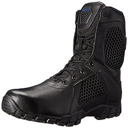 Bates Men\'s 8 Inch Strike Side Zip Waterproof Tactical Boot, Black, 11 XW US