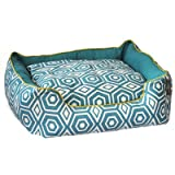 "Honeycomb Couch Dog Bed Size: Medium - 24"" L x 28"" W, Color: Turquoise"