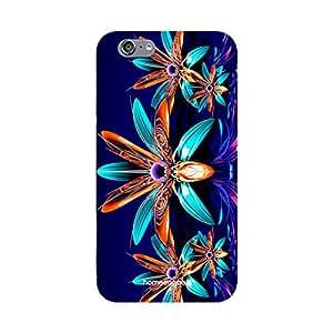 HomeSoGood Crystal Floral Design Blue 3D Mobile Case For iPhone 6 (Back Cover)