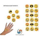 288 Temporary Emoji Tattoos (2