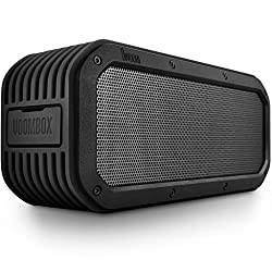 DIVOOM Voombox-outdoor Portable Ultra Rugged and Water Resistant Bluetooth 4.0 Wireless Speaker with 15w Output and 12 Hous Playback Time Color Black