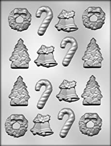 #!Cheap CK Products Christmas Tree, Bells, Wreath, and Candy Canes Chocolate Mold