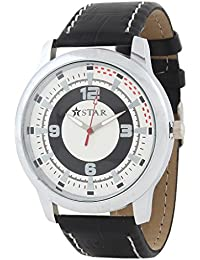 T STAR UFT-TSW-010-WH-BK White Dial Black Strap Round Analog Watch For Men