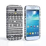 Prix Le Plus Bas Caseflex Coque Samsung Galaxy S4 Mini Etui Noir / Blanc Aztec Monochrome Motif Dur Housse