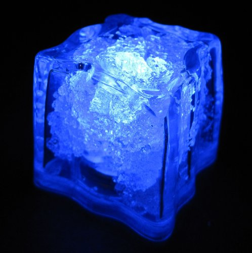 Set-of-10-LiteCubes-Brand-3-Mode-BLUE-Light-up-LED-Ice-Cubes
