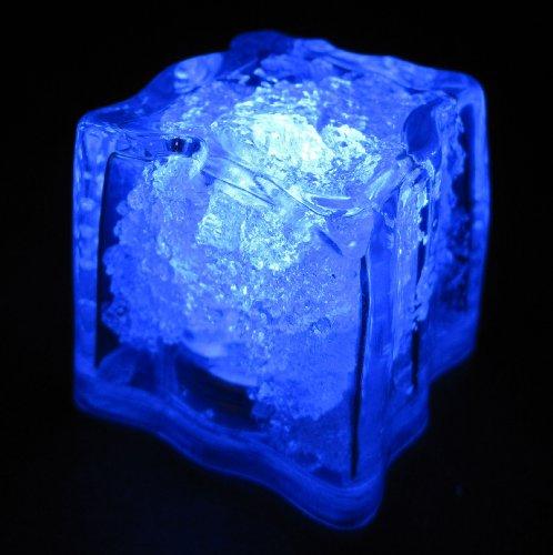 Set-of-10-LiteCubes-Brand-3-Mode-BLUE-Light-up-LED-Ice-Cubes