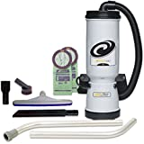 ProTeam Vacuum Backpacks 107138 Megavac 10 Quart Backpack Vacuum Cleaner With Blower Tool And Xover Multi-Surface Twopiece Wand Tool Kit