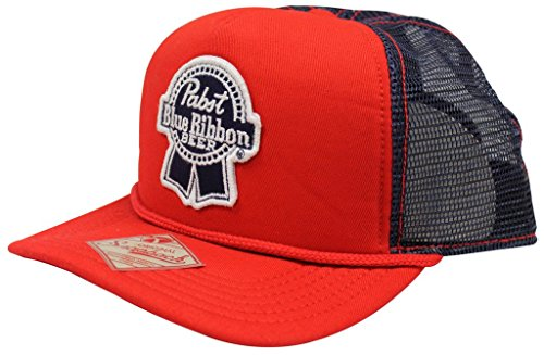 Pabst Blue Ribbon PBR Beer Red & Blue Snapback Trucker Hat (Beer Company Hat compare prices)