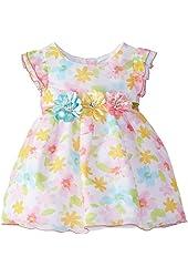 Youngland Baby Girls' Floral Chiffon Occasion Dress