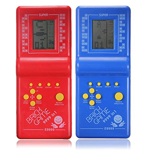 Flying Colourz Classic Fun Tetris Hand Held LCD Retro Game Toys Brick