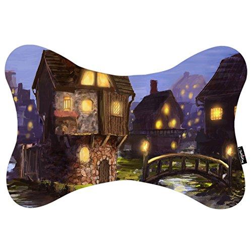 i-famuray-reise-nackenkissen-auto-sitzbezug-kopf-hals-art-bridge-houses-lights-night-river-town