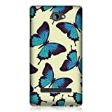 Head Case Designs Blue Butterfly Pattern Hard Back Case for HTC Windows Phone 8S