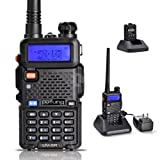 Baofeng UV5R 136-174/400-480 MHz Dual-Band DTMF CTCSS DCS FM Ham Two-Way Radio (Black)