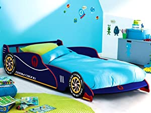 Child bed kids single bed 1 blue junior bed toddler bed frame boys beds car bed