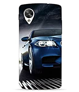 Make My Print Car Printed Blue Hard Back Cover For LG Google Nexus 5X