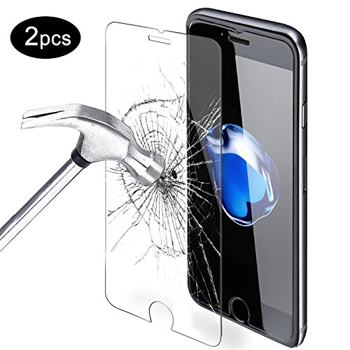 iPhone 7 Screen Protector, Mture Tempered Glass for Apple iPhone 7(4.7 inch) Ultra-Clear Guard Film 9H Hardness and Easy Bubble-Free Installation Screen Protector Film For iPhone 7 - 2-Pack