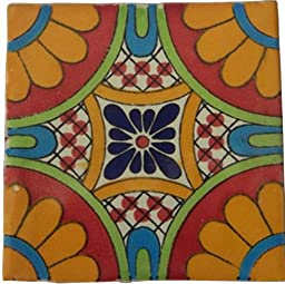 12 Hand Painted Talavera Mexican Tiles 4\