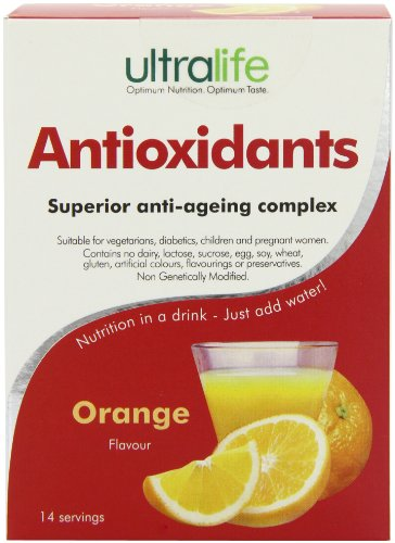 Ultralife Antioxidants 8 g Orange Immune System Support Drink Powder Sachets - Box of 14