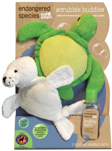 Endangered Species by Sud Smart Scrubbie Buddies Bath Set