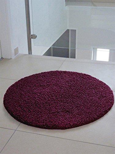 benuta-Teppiche-Shaggy-Langflor-Hochflor-Teppich-Swirls-Lila--120-cm-rund-schadstofffrei-100-Polypropylen-Uni-Maschinengewebt-Wohnzimmer