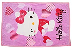 Ole Baby Winking Hello Kitty Premium Jumbo Reversable Mink soft breathable, Sophisticated and Classic design, Multi Purpose ALL SEASON BLANKET (0-5 Years)154 x 100 cm