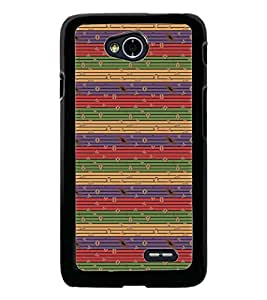 PrintDhaba Pattern D-5364 Back Case Cover for LG L90 (Multi-Coloured)